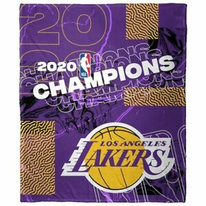 NBA Licensed Los Angeles Lakers Championship Twin Size Plush Throw Blanket
