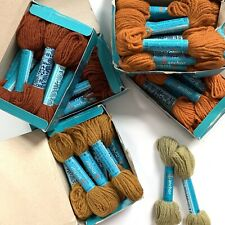 Lot of 49 ANCHOR 100% Wool Tapisserie Tapestry Yarn 15 yards ea skein Rust Brown