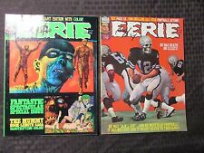 1976 EERIE Warren Horror Magazine LOT of 2 #78 FVF 79 FVF Ken Kelly Cover
