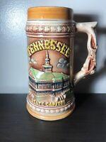 "SOUVENIR MUG RASIED DESIGN CAPITOL VINTAGE JAPAN BEER STEIN 7"" Tennessee"