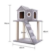 Árbol para Gatos Rascador Torre Condominio con Escalera Casa Estable 90cm