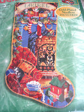 "Christmas Bucilla Needlepoint Stocking Kit,ALL HEARTS COME HOME,Rossi,18"",60779"