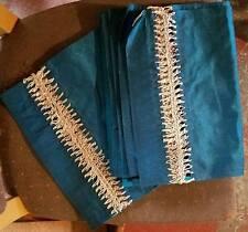 Vastu Imports Polyester Dining Placemats with Banana Fiber Ornamentation -6 Mats