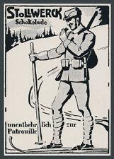 Reklame Stollwerck Schokolade dt Alpenkorps Skipatrouille Vogesen Westfront 1915