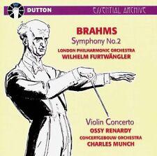 BRAHMS Ossy Renardy VIOLIN CONCERTO & Wilhelm Furtwangler SYMPHONY NO.2-CDEA5024