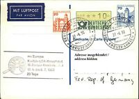 Schiffspost Schiffsstempel MS EUROPA USA Karibik 198810 Pf. ATM-Zusatzfrankatur