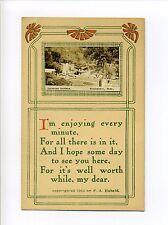 Winchendon MA Mass RPPC real photo Converse Gardens, poem, antique postcard