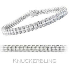 2.85ct Genuine F VS Diamond Bracelet Baguette & Brilliant Cut 18ct White Gold