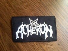 ACHERON,SEW ON WHITE EMBROIDERED PATCH