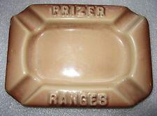 heavy porcelain cast iron ash tray advertising Prizer Ranges