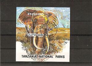 Tanzania 1993 Elephant Bloc Cancelled yt 184