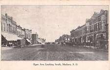 Madison South Dakota Egan Ave Street Scene Antique Postcard K21621