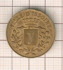Auvergne: Rathaus D´Issoire Medaille 1887 Party Nächstenliebe