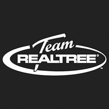 TEAM REALTREE LOGO WITH OVAL WHITE HUNTING WINDOW DECAL STICKER PACK OF 6