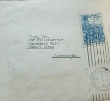 L) 1949 BRAZIL, BLUE, CR 1,20, PALM, CROSS, PEOPLE, AIR MAIL, CIRCULATED COVER