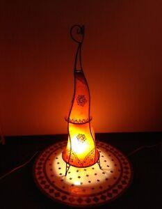 Orientalische Stehlampe Hennalampe Marrakesch 100 cm-Orange
