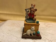 Collectible Danbury Mint Porcelain Figurine Cute Cats! Grin And Bear It