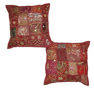 Indian Patchwork Cotton Cushion Cover Handmade Throw Pillow Cases Cover 16''