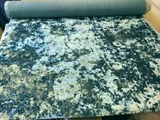 LUXURY THICK CRUSHED VELVET MERLIN TOPAZ BLUE UPHOLSTERY FABRIC MATERIAL SALE