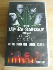 """K7 VHS """" THE UP IN SMOKE TOUR  """" RAP / DR.DREE / EMINEM / ICE CUBE.. 2000 RARE"""