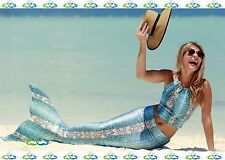 THE2TAILS™ Adult Blue Spirit Scale Mermaid Tail Affordable w/ Fin
