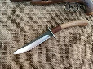 GAUCHO KNIFE FORGED BOWIE COMBAT COWBOY MONTAIN MAN EDC HUNTER SKINNER FIGHT