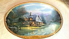 Thomas Kinkade Lamplight Glen Fifth Issued in Lamplight Village Collectors Plate