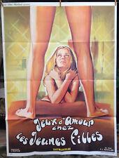 JEUX D'AMOUR CHEZ LES JEUNES FILLES -cinema-affiche originale-120x160-Gottlieb
