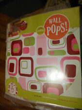 Wall Pops!  Retro Pink Circles, Removeable, 10 Circles, Wall Art Decoration, New