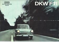 DKW Auto Union Audi F11 Original 1963 Brochure Italian