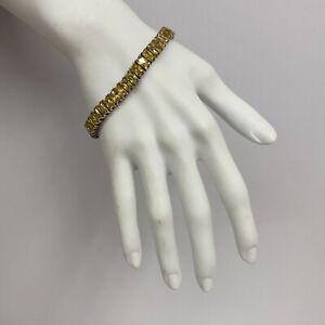 "Ross Simons Sterling Yellow CZ Tennis Bracelet Fabulous! 7 5/8"" Long"