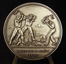 Médaille 77mm Nuit du 4 août 1789 par Martha Boto medal 铜牌 Révolution française