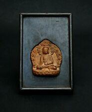 ANTIQUE TIBETAN TSA TSA BUDDHIST VOTIVE AMULET BUDDHA Bhumisparsha Mudra
