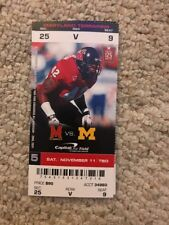 2017 MARYLAND TERRAPINS VS MICHIGAN WOLVERINES FOOTBALL TICKET STUB 11/11