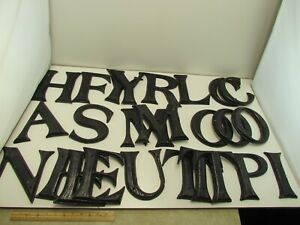 """Lot of 25 Plastic Simulated Wood Grain 7"""" Decorative Letters Pre-drilled"""