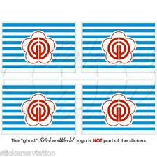 Taipei Bandiera Taiwan Repubblica di Cina, Roc ADESIVI 50mm Stickes x4