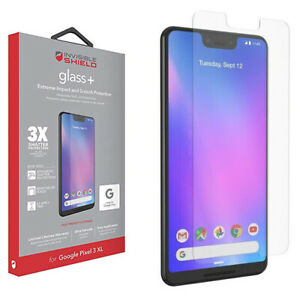 ZAGG InvisibleShield Glass+ Tempered Screen Protector Google Pixel 3 XL, Clear