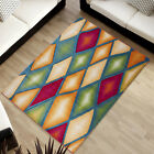 countours de découpe Design Tapis haute qualité Motif des carreaux multicolore