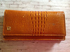 vintage patent tan crocodile skin effect Pierre Cardin purse / small bag