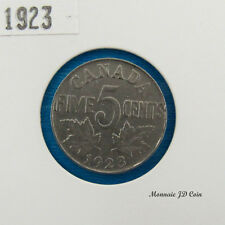 1923 Canada 5 Cents Nickel Coin Georges V