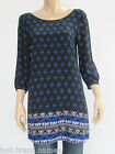 Crossroads Ladies 3/4 Sleeve Shift Border Tunic Top sizes 8 10 12 14 16 18 20 22