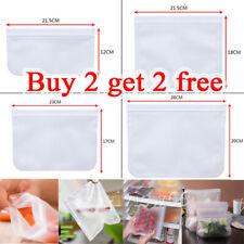 PEVA Silicone Food Storage Bag Freezer Reusable Seal Ziplock Vacuum Fresh Bags