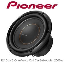 """Pioneer TS-D12D2 - 12"""" Dual 2 Ohm Voice Coil Car Subwoofer 2000W"""