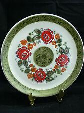 Schramberg SMF Tirol Blumen Rosen rot grün handbemalt Speiseteller 25 cm Dm