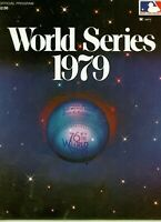 1979 World Series Program Cincinnati Reds vs Pittsburgh Pirates