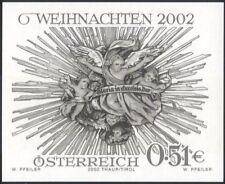 Austria 2002 Christmas/Greetings/Crib Aureole   1v Black only imperf (at1141)