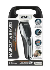 Wahl Haircut & Beard Cord/Cordless Rechargeable Trimmer Clippers 22 Piece Kit