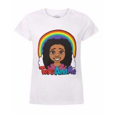 T-shirts blancs à motif Logo pour fille de 2 à 16 ans