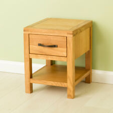 Abbey Oak Lamp Table / Waxed Oak Side Table / Solid Wood Small Table / NEW