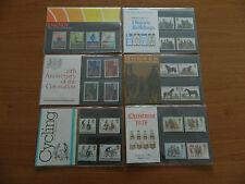 1978 año de conjunto de 6 paquetes de presentación (nos 99 a 104) En Perfecto Estado